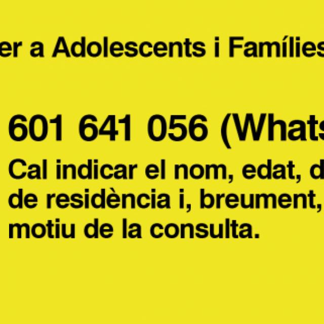 Necessites ajuda emocional, suport per a joves, adolescents i famílies durant el confinament