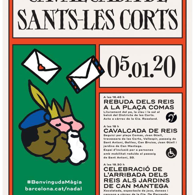 El 5 de gener els Reis Mags cavalquen els carrers de Sants-Les Corts.